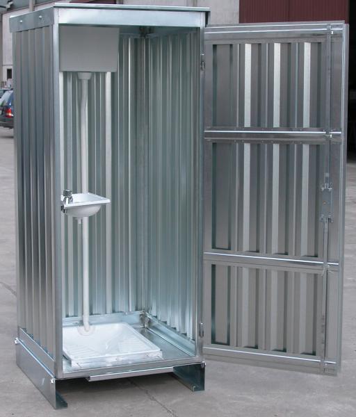 Servizi igienici prefabbricati in lamiera zincata da esterno for Bagno alla turca