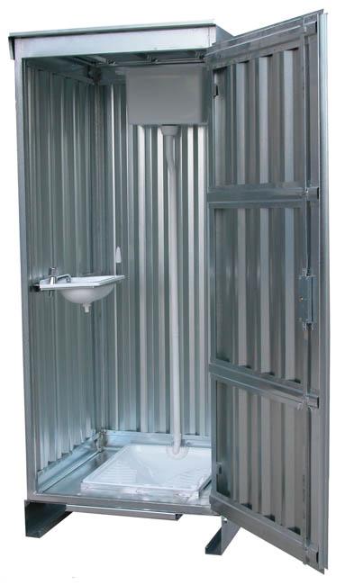 Servizi igienici in lamiera zincata