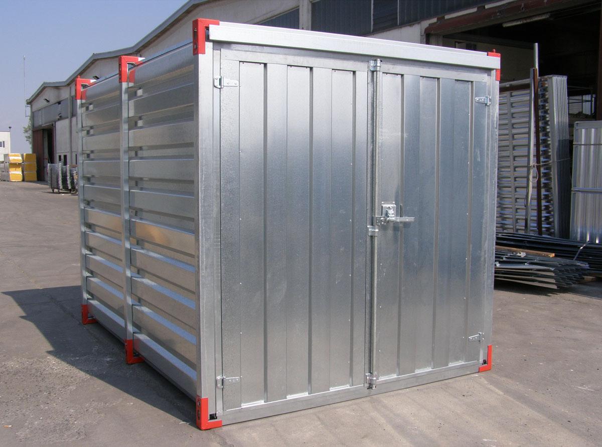 Container ad uso cantiere coibentati e in lamiera zincata for Container ufficio usati